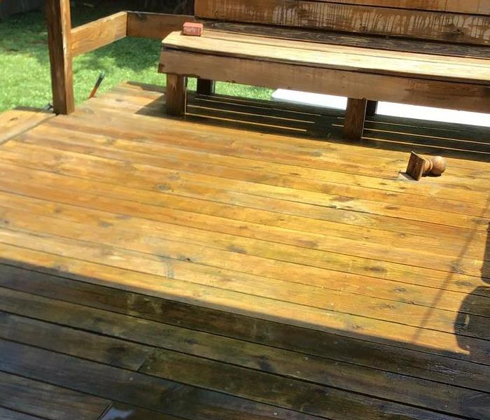 New deck at residential property