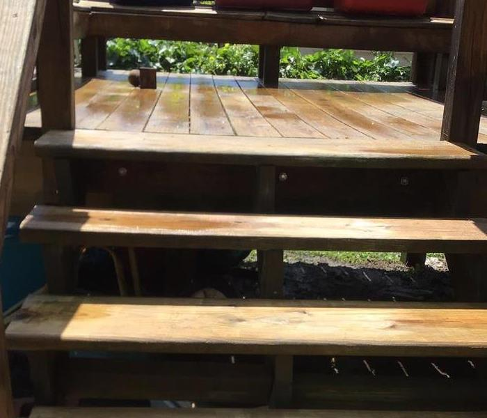Clean steps at residential property